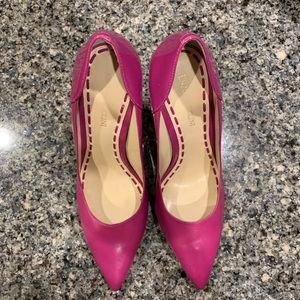 Enzo Angiolini Pink Leather Pumps